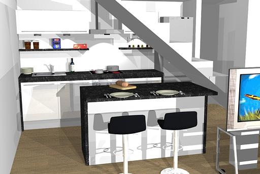 Küche voll
